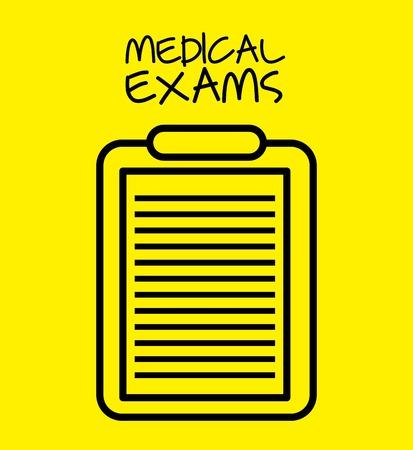a medical examination: medical healthcare design, vector illustration graphic Illustration
