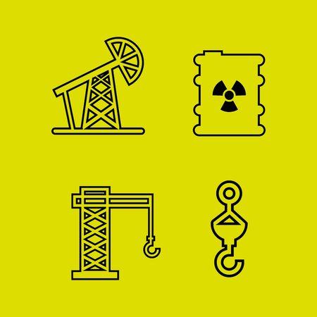 coal mining: mining icon set design, vector illustration eps10 graphic