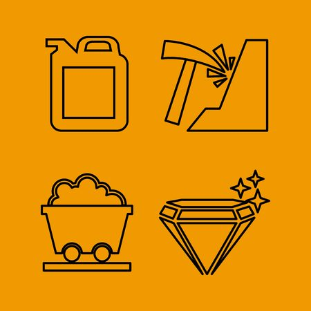 coal mining: mining icon set design, vector illustration graphic Illustration
