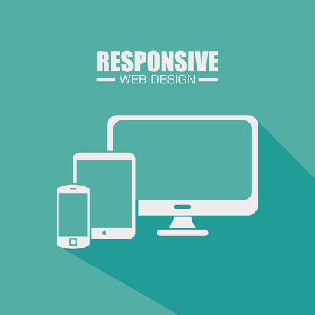 responsive design: Responsive and technology  design, vector illustration  graphic Illustration