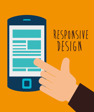 Responsive and technology  design, vector illustration  graphic Vectores