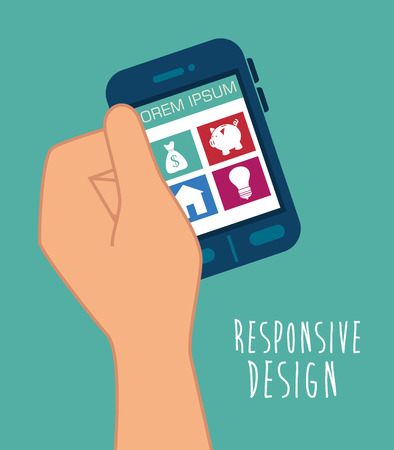 display size: Responsive and technology  design, vector illustration  graphic Illustration