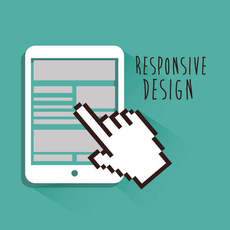 responsive: Responsive and technology  design, vector illustration  graphic Illustration