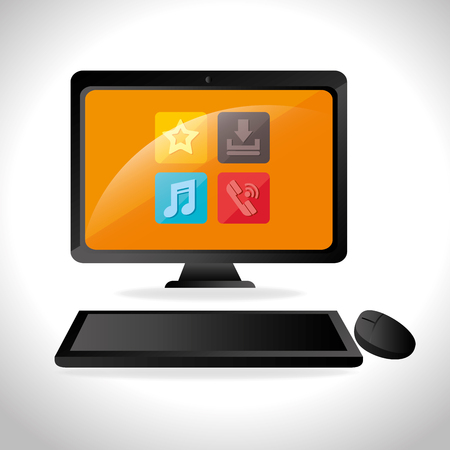 responsive design: Responsive and technology  design, vector illustration graphic