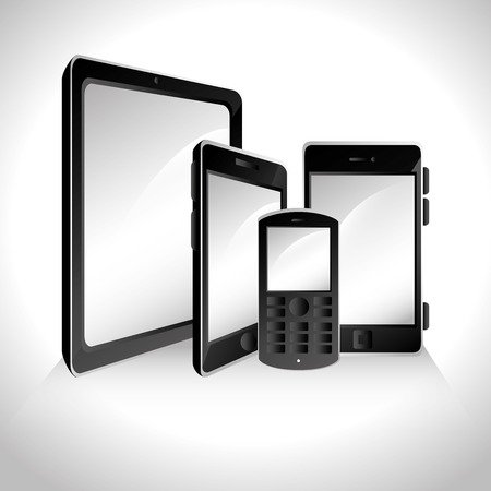 display size: Responsive and technology  design, vector illustration graphic