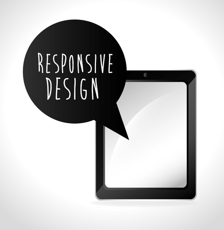 responsive design: Responsive web and technology design, vector illustration. Illustration
