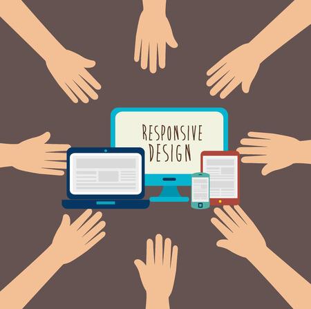 responsive design: Responsive web and technology design, vector illustration  graphic Illustration