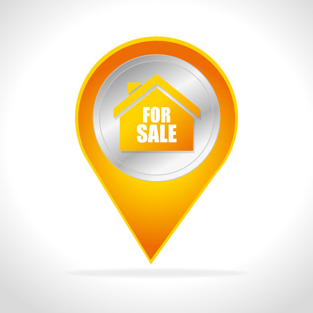 real business: Real estate business graphic design, vector illustration.