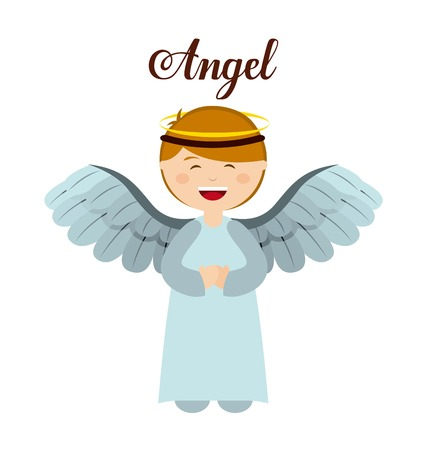 angel wing: Christmas manger characters design, vector illustration eps10 graphic