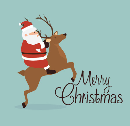 new: Merry christmas colorful card design, vector graphic.