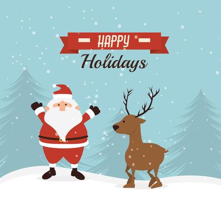 Merry christmas card design colorato, grafica vettoriale.