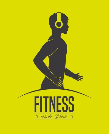 fitness center: fitness center design, vector illustration eps10 graphic Illustration