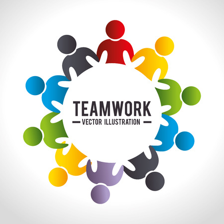 Business teamwork and leadership graphic design, vector illustration.