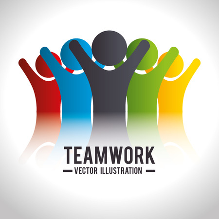 leadership abstract: Business teamwork and leadership graphic design, vector illustration. Illustration