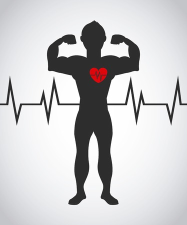 heart hard work: hard work design, vector illustration graphic Illustration