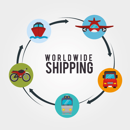 deliver: Transport, delivery and shipping design, vector graphic