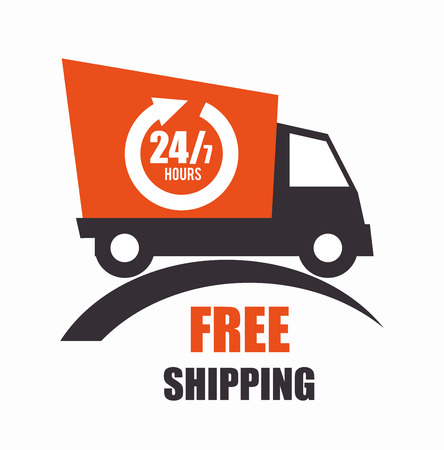 shipping package: Free delivery and shipping design, vector illustration.