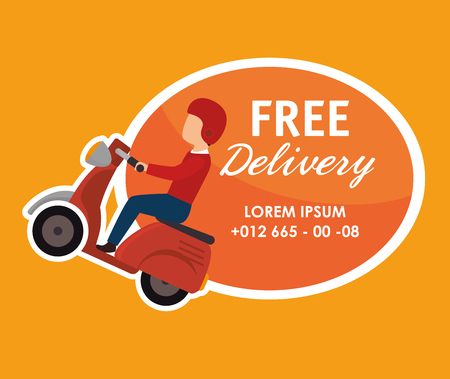 parcel delivery: Free delivery and shipping design, vector illustration.