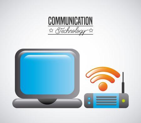 antena: communication technology design, vector illustration eps10 graphic