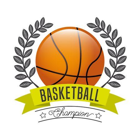 balon de basketball: deporte diseño campeón, ilustración vectorial gráfico Vectores
