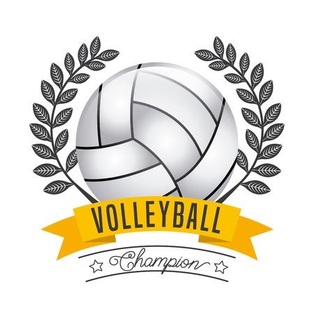 balon voleibol: deporte diseño campeón, ilustración vectorial gráfico Vectores