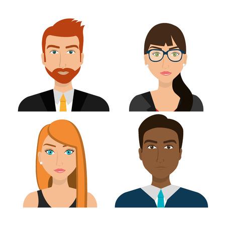 team group: Business people and entrepreneur design, vector illustration.