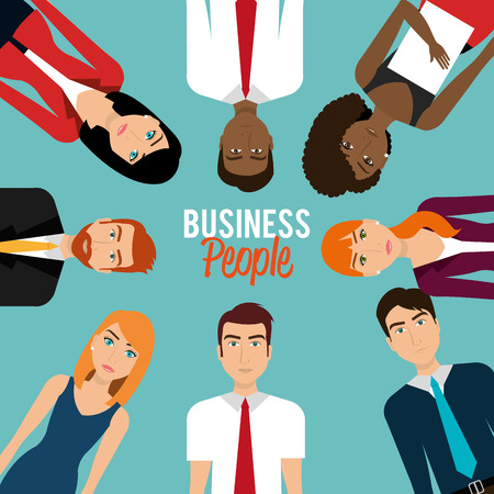 happiness or success: Business people and entrepreneur design, vector illustration.