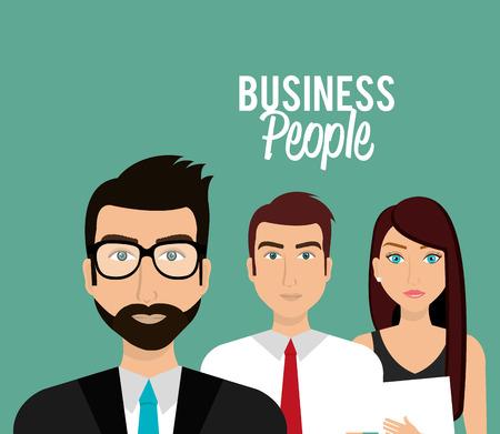 business group: Business people and entrepreneur design, vector illustration.