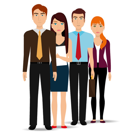 colleagues: Business people and entrepreneur design, vector illustration.