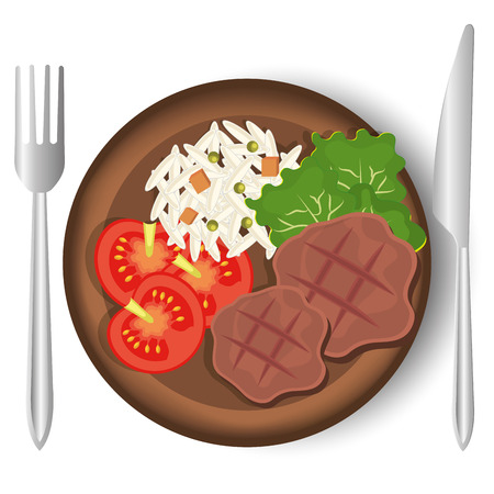 gastronomy: Food and gastronomy graphic design, vector illustration. Illustration