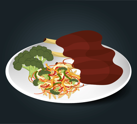Food and gastronomy graphic design, vector illustration. Illustration