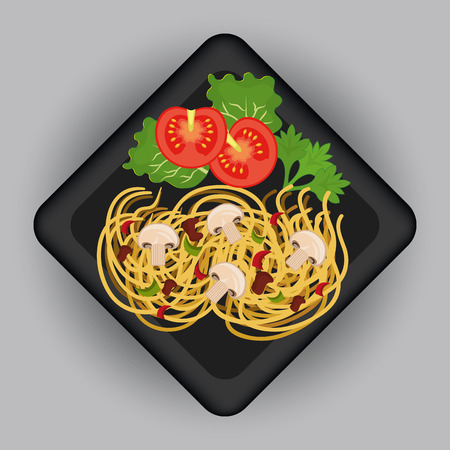 gastronomy: Food and gastronomy graphic design, vector illustration. Stock Photo