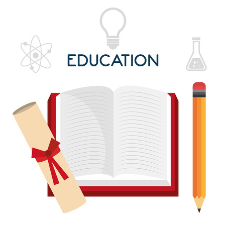 african teacher: Graduate education graphic design, vector illustration eps10.