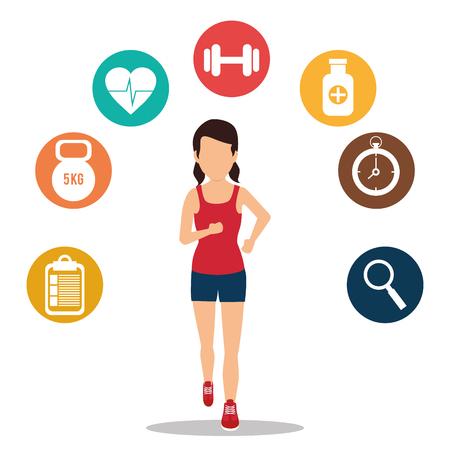 Fitness healthty lifestyle design, vector illustration eps10 Illustration