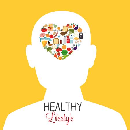 sporty: Fitness healthty lifestyle design, vector illustration eps10 Illustration