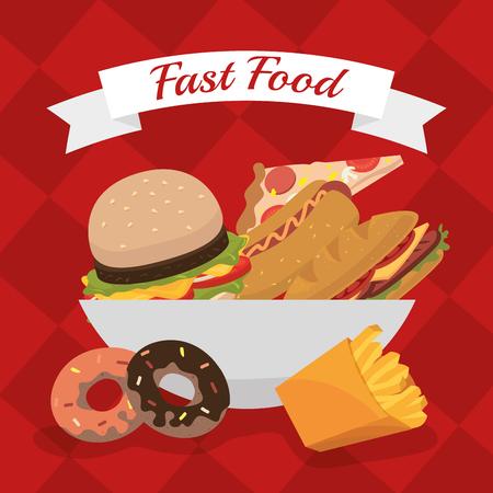 fas: Fas food restaurant  design, vector illustration eps10 Illustration