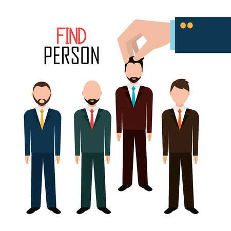 opportunity: Find person for job opportunity, vector illustration design