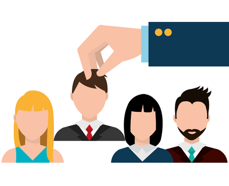 headhunter: Find person for job opportunity, vector illustration design