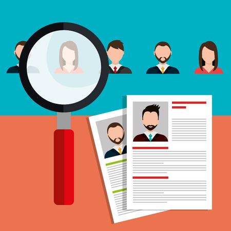 Finden und Person für ein Stellenangebot, Vektor-Illustration Design-