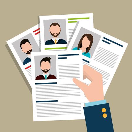 conclusion: Encuentra persona de oportunidad de empleo, diseño de ilustración vectorial Vectores