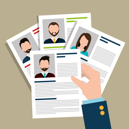 finding: Find person for job opportunity, vector illustration design
