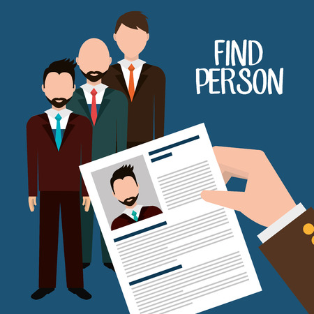 job icon: Find person for job opportunity, vector illustration design