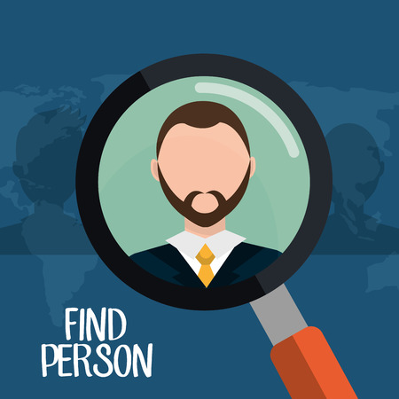 executive search: Find person for job opportunity, vector illustration design