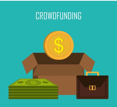 laundering: Crowdfunding  icon design, vector illustration graphic eps10.