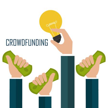 corrupt: Crowdfunding  icon design, vector illustration graphic eps10.