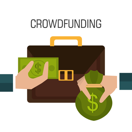 bank money: Crowdfunding  icon design, vector illustration graphic eps10.