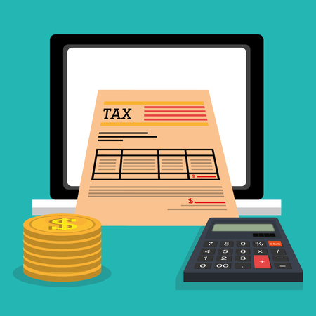 tax law: Taxes icon design, vector illustration eps10 graphic Illustration