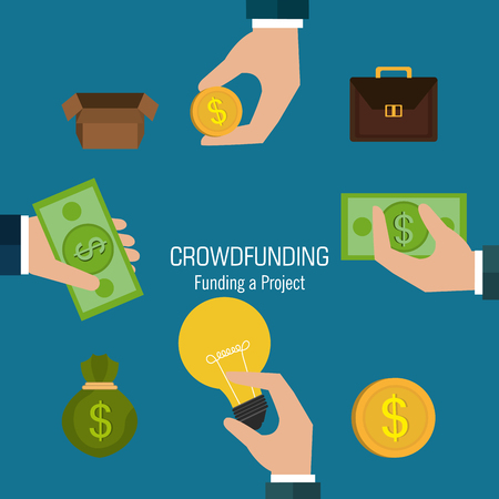 laundering: Crowdfunding  icon design, vector illustration graphic eps10.