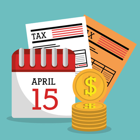 Taxes icon design, vector illustration eps10 graphic Illustration