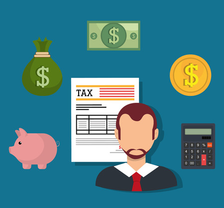 business savings: Taxes icon design, vector illustration eps10 graphic Illustration